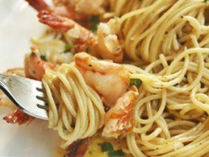 recetas de pasta con camarones