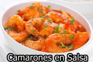 receta de camarones en salsa
