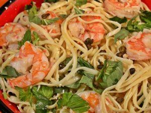 como hacer como hacer espagueti con camarones
