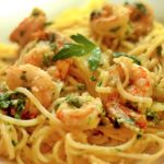 Espagueti con Camarones