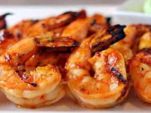 receta de camarones a la plancha
