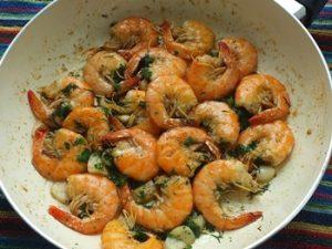 receta de camarones fritos con piel