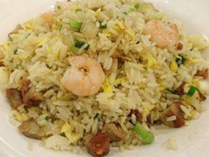 receta de arroz chino con camarones