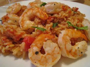 arroz con camarones ecuatoriano