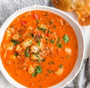 receta de caldo de camarón fresco con chipotle