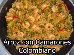 arroz con camarones colombiano