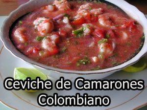 ceviche de camaron colombiano